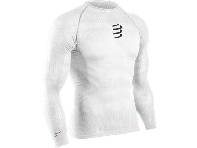 Compressport Camiseta Térmica 3D Manga Larga Hombre, white